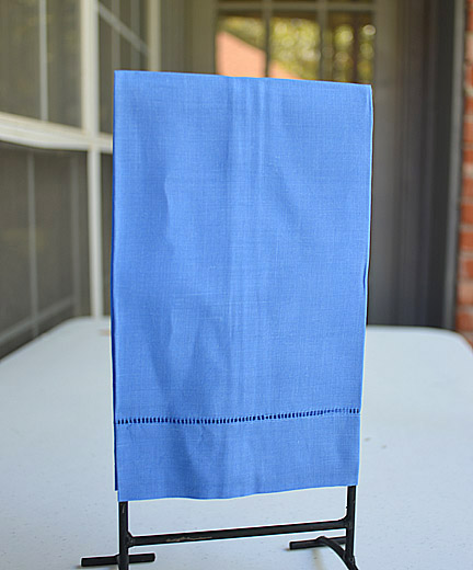 Blue hand towels, royal blue hand towels, hand towel, guest towel, blue hemstitch towels
