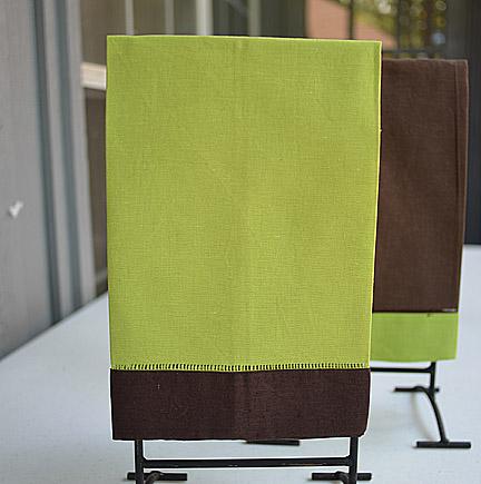 festive mulit colored hand towel