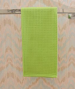 Bright Green waffle weave towel, hot green waffle weave towels. macaw green waffle towels