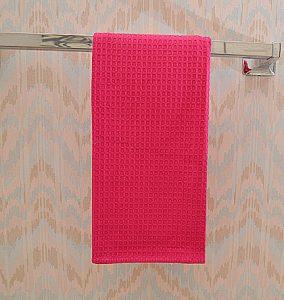 Hot Pink waffle weave towel. Raspberry Sorbet Waffle Weaves towel