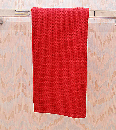 Festive Red Colored Waffle Weaves Towel
