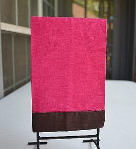Fuchsia Rose Pink / Brown Trwim