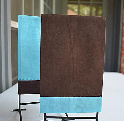 festive multi colored hand towel