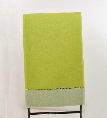 festive multi colored hand towel bright green & mellow green