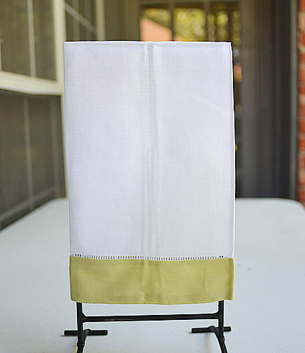 Beechnut colored trimmed hand towel