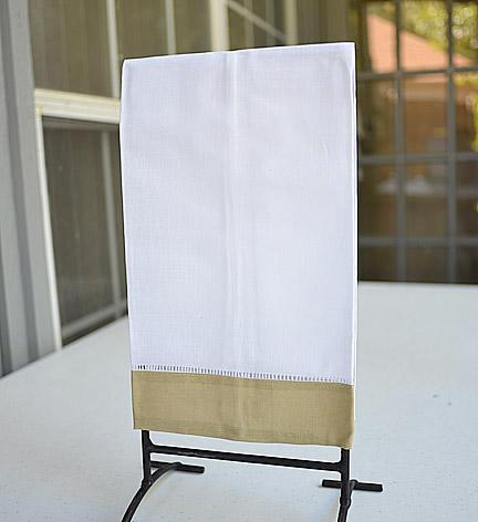 Marzipan border Hemstitch Guest Towel