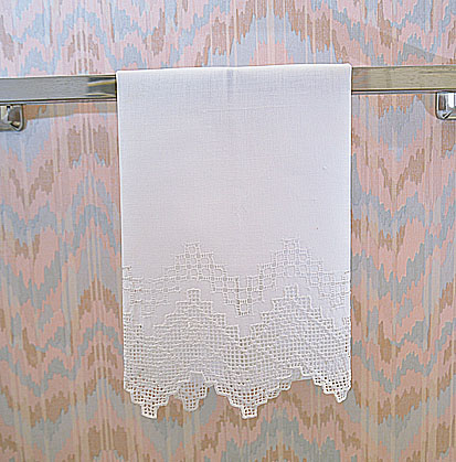English Style. Hand Towel. Linen hand towel.