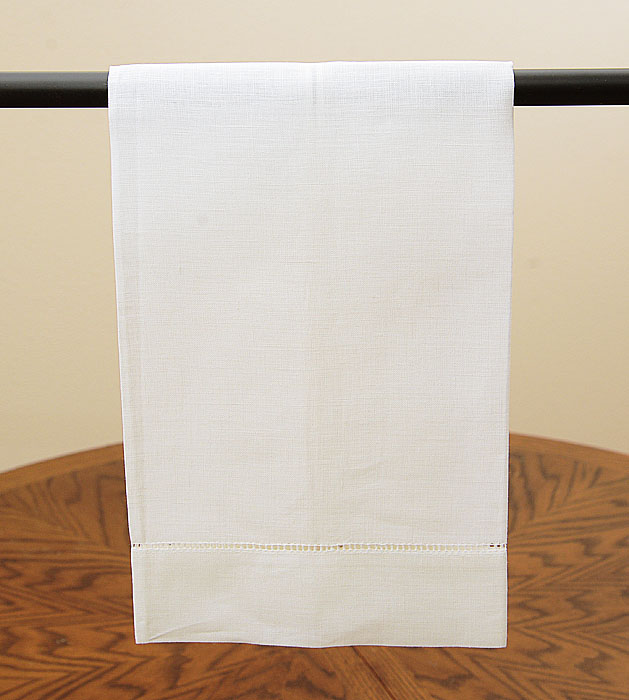 Linen Guest Towel. Coconut Milk colored