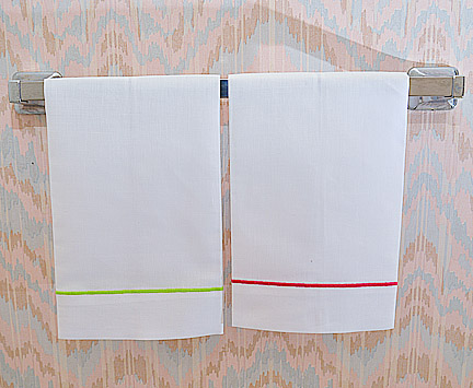 colored corded guest towel