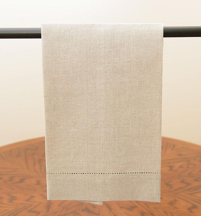 Linen Flax Hemstitch Guest Towel
