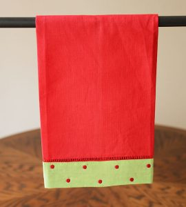 Red & Green Polka Dots Guest Towel