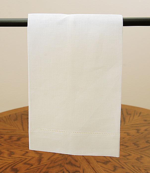 Natural Winter White Linen Towel