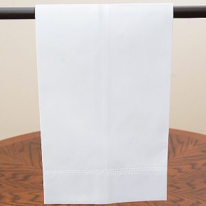 White Cotton Hemstitch Guest Towel