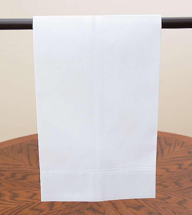 White cotton guest towel